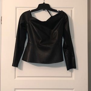 BCBG Top , open shoulder